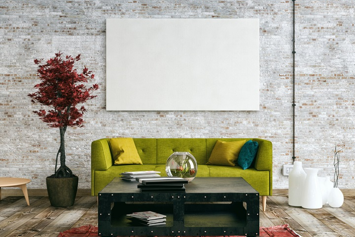 Latest Trend Paintings For Living Room While u0027gallery wallu0027 style clustered paintings, prints and photographs have  been a wall feature for a number of years, 2018 might just usurp the trend  with ...