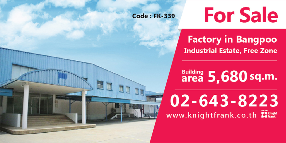 Factory for Sale: Bangpoo Industrial Estate, Free Zone