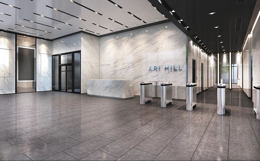 Ari Hills - Office For Rent - Lobby Perspective