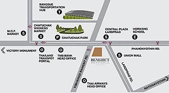 แผนที่ The Saint Residences