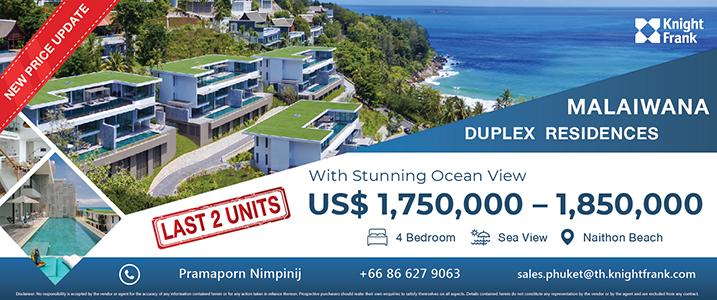 Last 2 units! Malaiwana Duplex Residences in Phuket for Sale