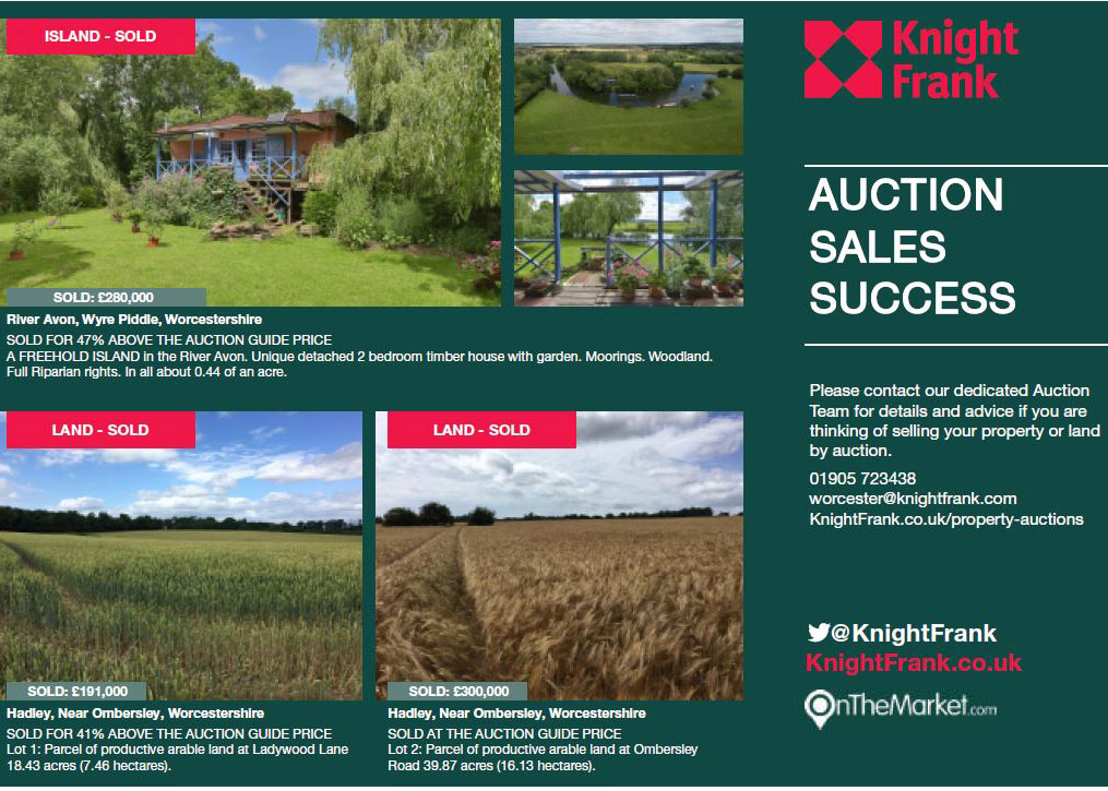 Our October success with sales at auction
