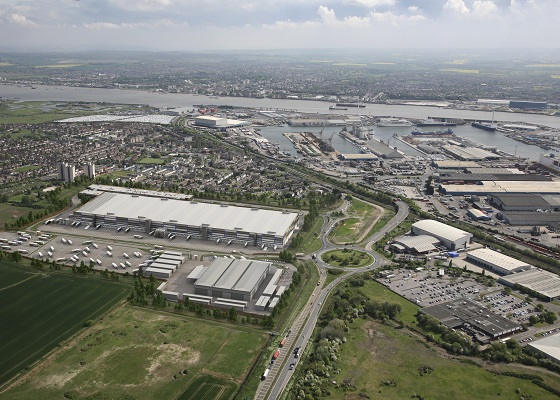 London Distribution Park, Tilbury. Disposal. Client: Roxhill Developers & Forth Ports.