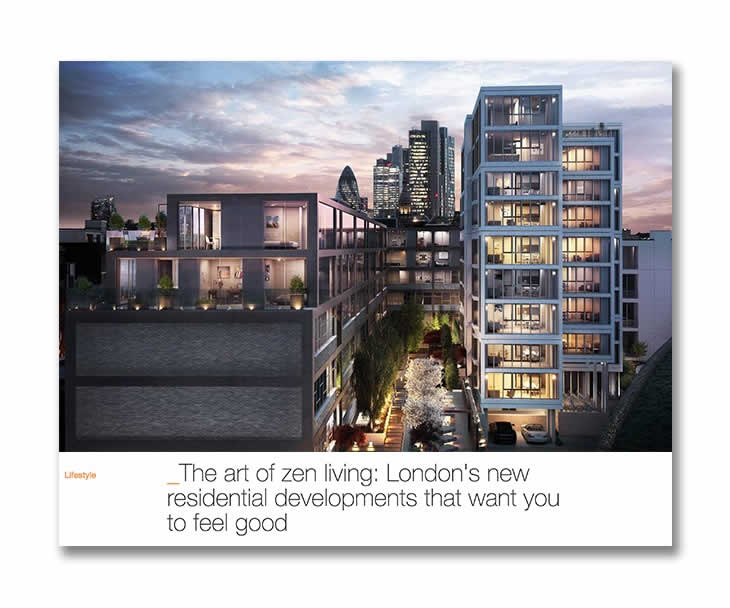 The new London developments focussed on wellbeing