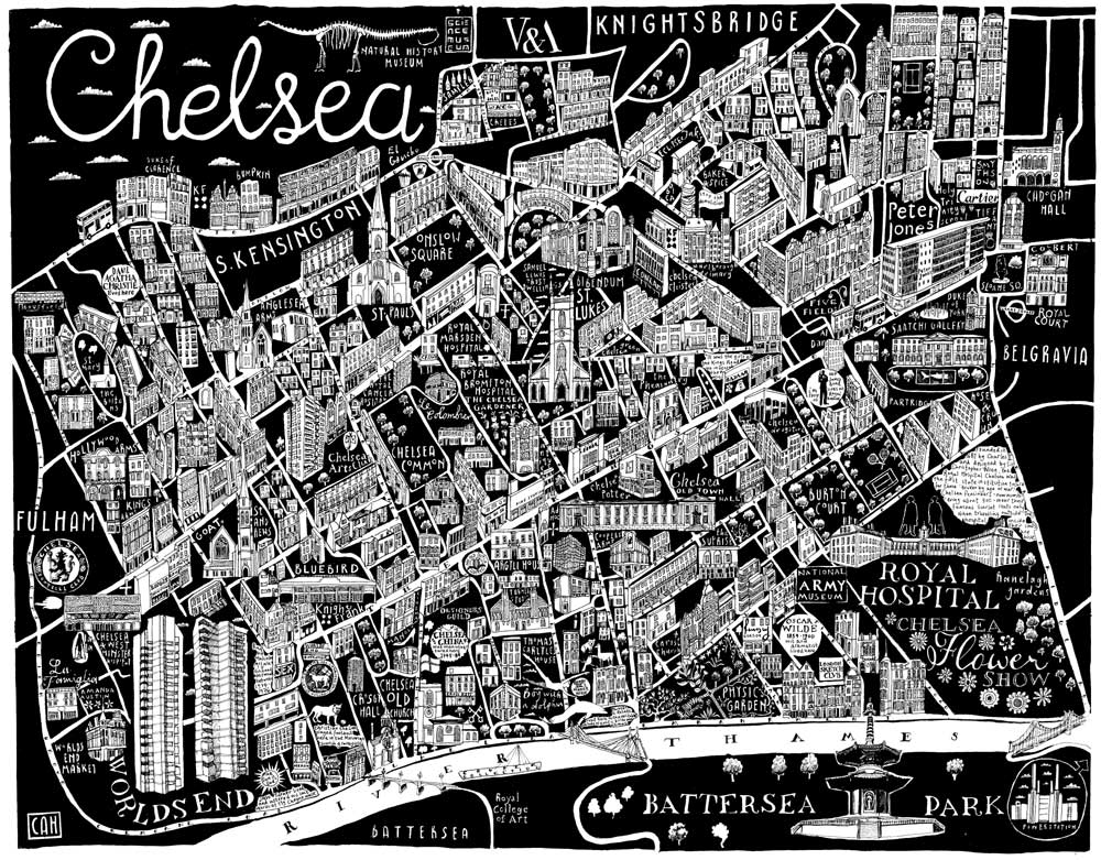 Chelsea Area Map