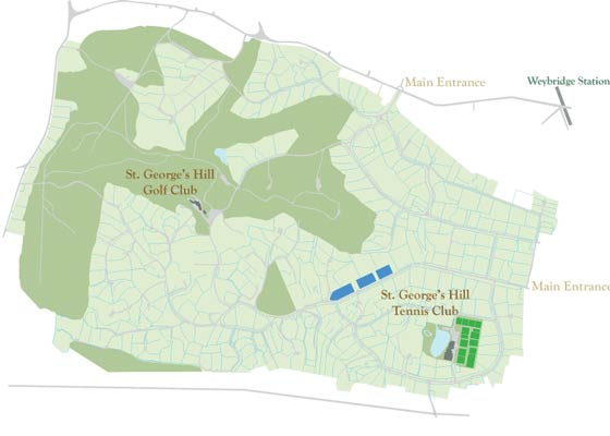 Map of St George's Hill