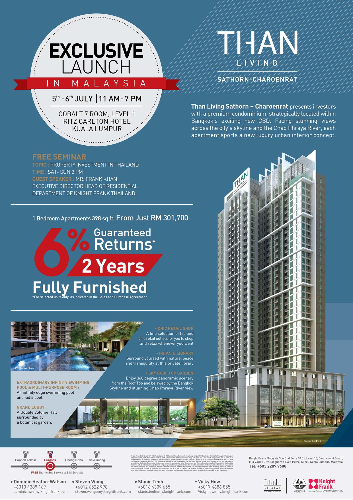 than living condominium for knight frank residential property