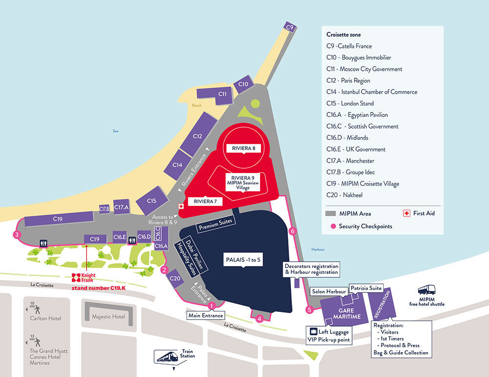 Map of MIPIM