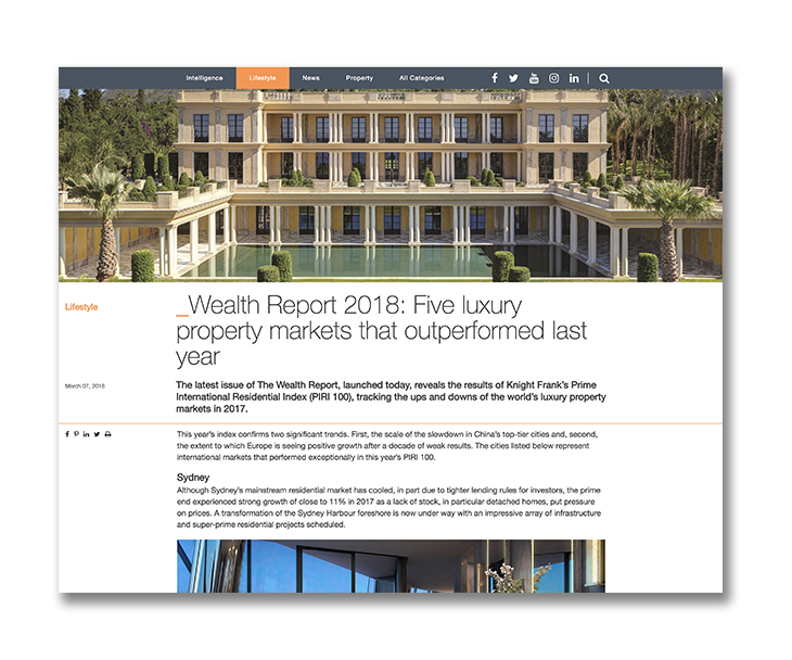 Five luxury property markets that outperformed last year