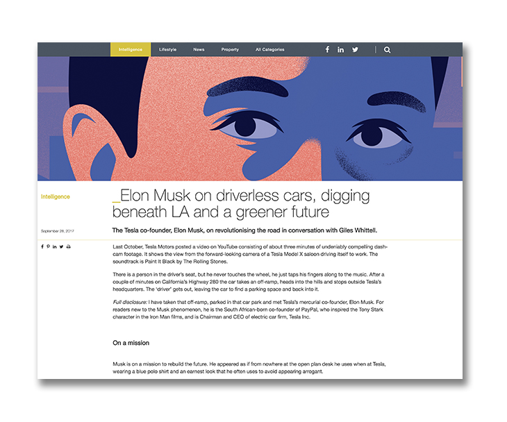 Elon Musk - the entrepreneur and eco visionary