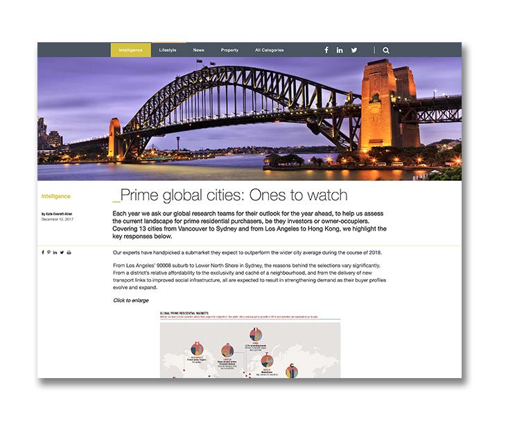 Prime global cities: Ones to watch
