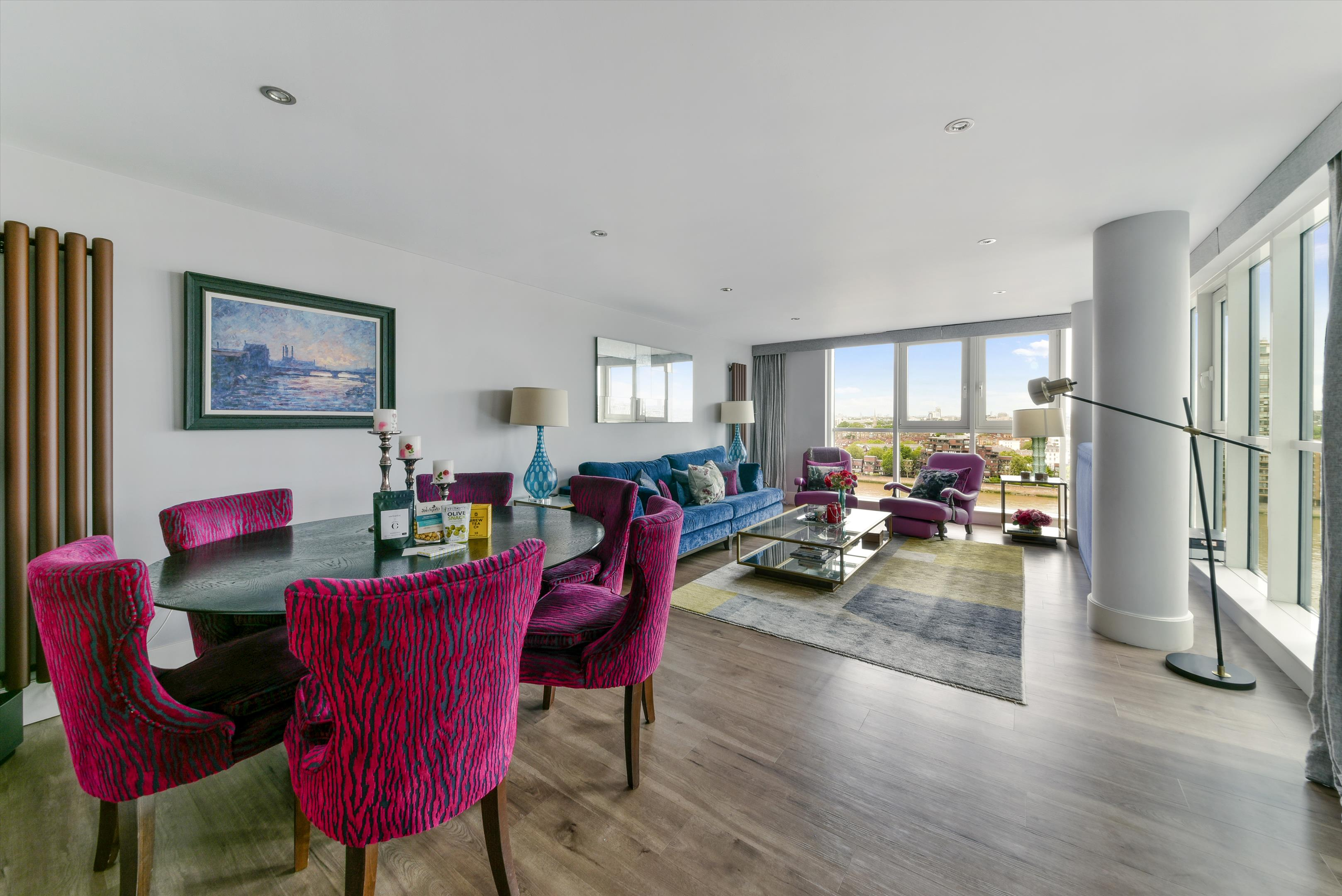3 Room Flat flat to rent in st. george wharf, london, sw8 - baq012017525