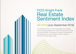 Knight Frank FICCI NAREDCO India Real Estate Sentiment IndexKnight Frank FICCI NAREDCO India Real Estate Sentiment Index - Q2 (April - June 2016)