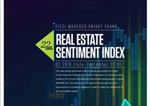 Knight Frank FICCI NAREDCO India Real Estate Sentiment IndexKnight Frank FICCI NAREDCO India Real Estate Sentiment Index - Real Estate Sentiment Index Q3 2019 (July-September 2019)